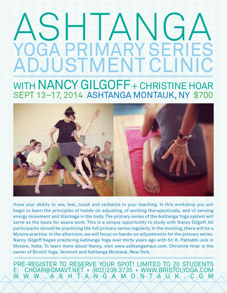 ashtanga adjustment clinic montauk september HIGHRES